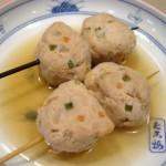 「ねぎとろ団子」の関東煮(かんとだき/おでん)